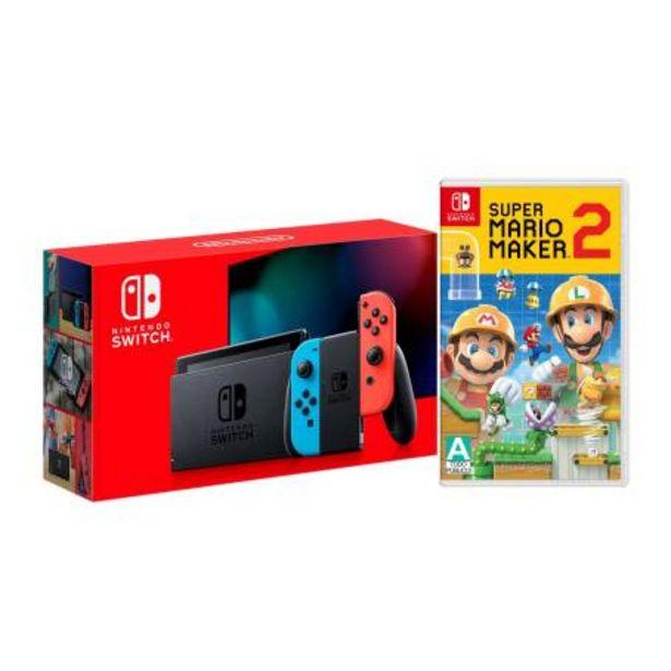 Oferta de Consola Nintendo Switch Neon 1.1 + Super Mario Maker 2 por $8199