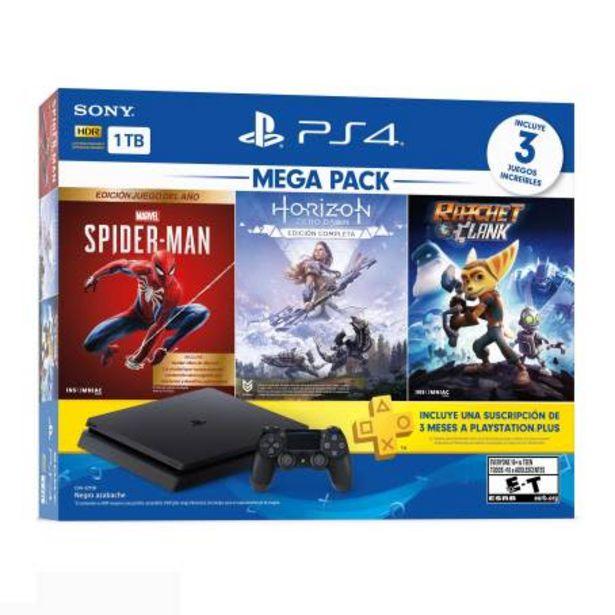 Oferta de Consola PlayStation 4 MegaPack 15 + Marvel Spider-man + Ratchet & Clank + Horizon Zero Dawn por $6955.38