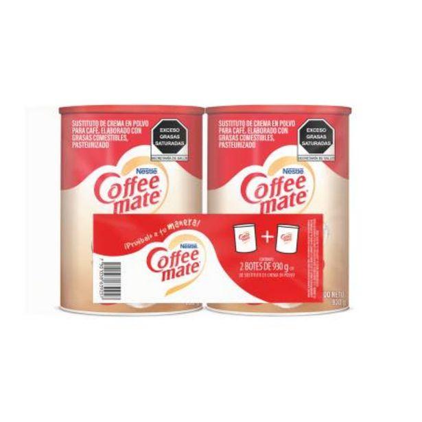 Oferta de Sustituto de Crema Coffee Mate Nestlé 2 pzas de 930 g por $169