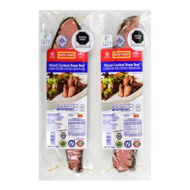 Oferta de Carne de Res Cocida Beth Yosef Roast Beef 2 pzas de 250 g c/u por $189.25