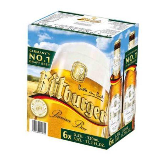 Oferta de Cerveza Clara Bitburguer 6 pzas de 330 ml por $168.78