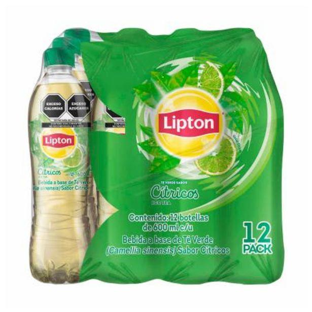 Oferta de Té Verde Lipton 12 pzas de 600 ml por $116.61