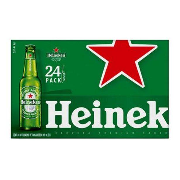 Oferta de Cerveza Premium Heineken 24 Botellas de 355 ml c/u por $359.07