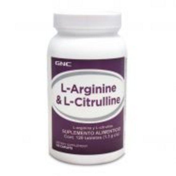 Oferta de GNC L-Arginina y L-Citrulina - 120 Cápsulas por $829.9