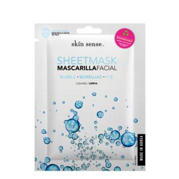 Oferta de Mascarilla facial burbujas de oxígeno, skin sense 25 g por $48.9