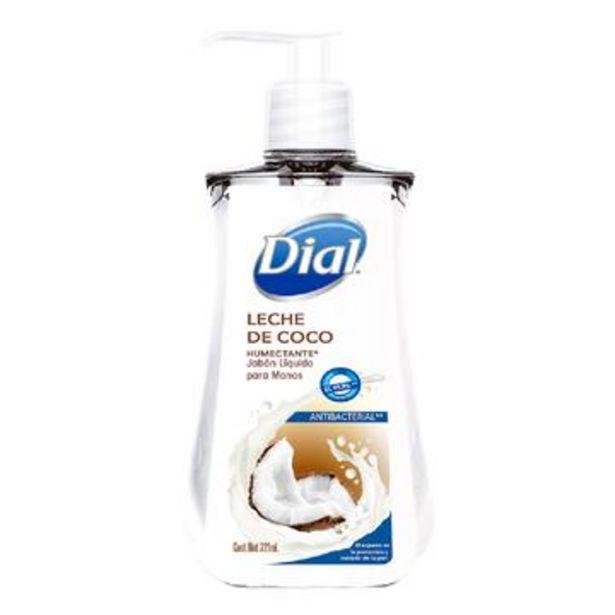 Oferta de Jabón líquido para manos leche de coco, dial 221 ml por $27