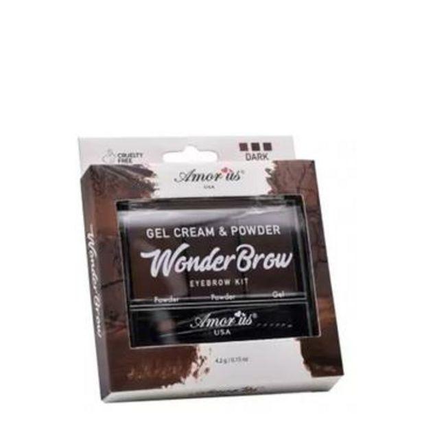 Oferta de Pomada para ceja dark chocolate, amorus por $49