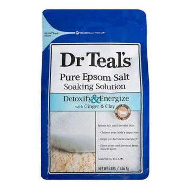 Oferta de Sales epsom de jengibre y arcilla, dr. teal's 1.36 kg por $129.9