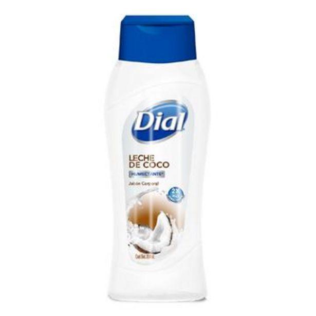Oferta de Jabón líquido corporal leche de coco, dial 354 ml por $41