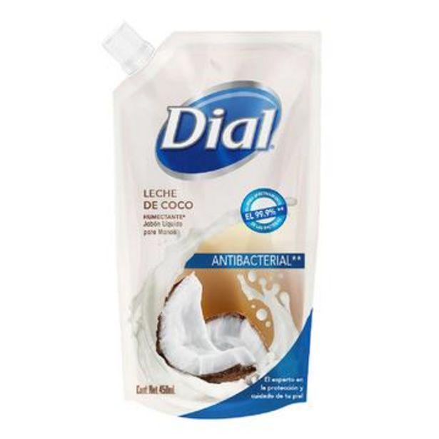 Oferta de Jabón líquido para manos leche de coco, dial 450 ml por $29
