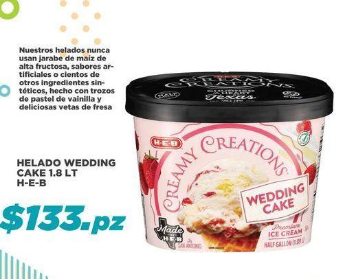 Oferta de Helado Wedding Cake 1.8 Lt HEB por $133