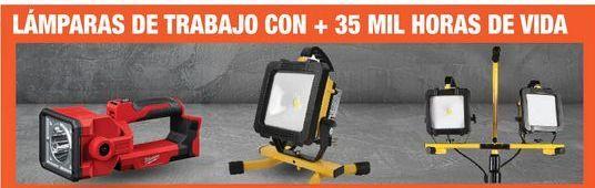 Oferta de LAMPARAS DE TRABAJO CON + 35 MIL HORAS DE VIDA  por