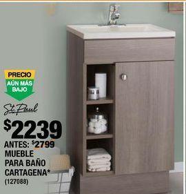Oferta de GABINETE PARA BAÑO CARTAGENA por $2239