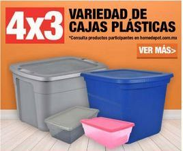 Oferta de 4x3 VARIEDAD DE CAJAS PLÁSTICAS por