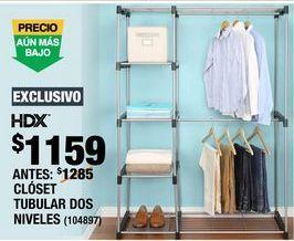 Oferta de CLÓSET TUBULAR 2 NIVELES por $1159