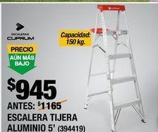 Oferta de ESCALERA TIJERA ALUMINIO por $945