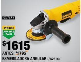 Oferta de ESMERILADORA ANGULAR DEWALT por $1615