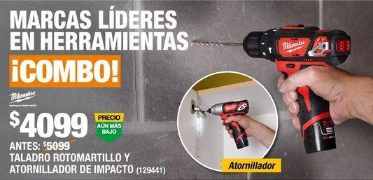 Oferta de COMBO TALADRO ROTOMARTILLO Y ATORNILLADOR  por $4099
