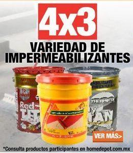 Oferta de 4x3 VARIEDAD DE IMPERMEABILIZANTES por
