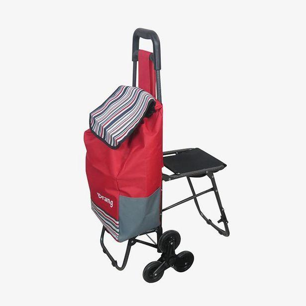 Oferta de Carrito de mandado con silla plegable por $899