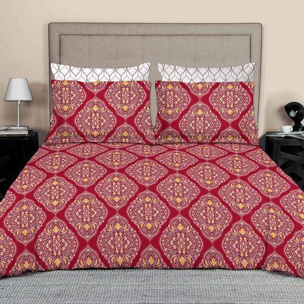 Oferta de Edredón doble Vista con sábanas y fundas para almohadas Damasco por $999