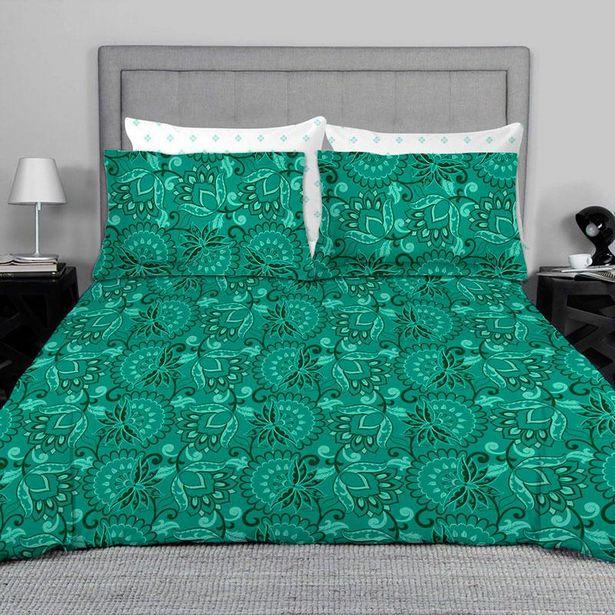 Oferta de Edredón doble Vista con sábanas y fundas para almohadas Turmalina por $999