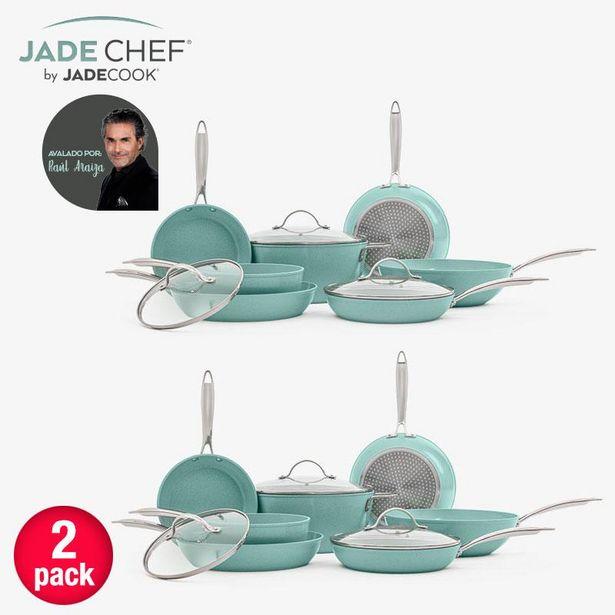 Oferta de Paquete de 2 Baterías de cocina de lujo Jade Chef por $10499
