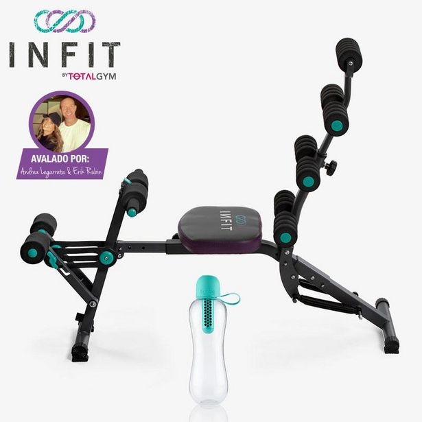Oferta de Paquete de Sistema de ejercicio en casa Infit by TotalGym + Botella para agua por $4499