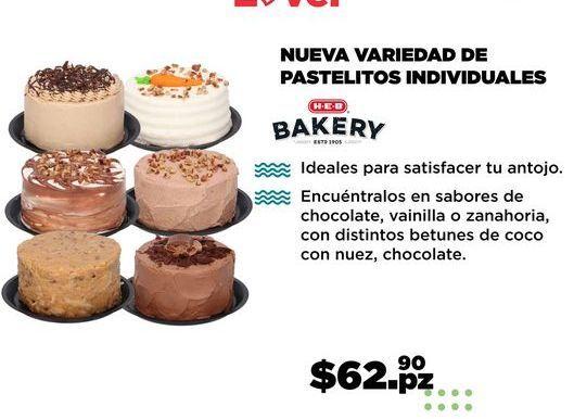 Oferta de NUEVA VARIEDAD DE PASTELITOS INDIVIDUALES por $62.9