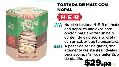 Oferta de TOSTADA DE MAÍZ CON NOPAL por $29