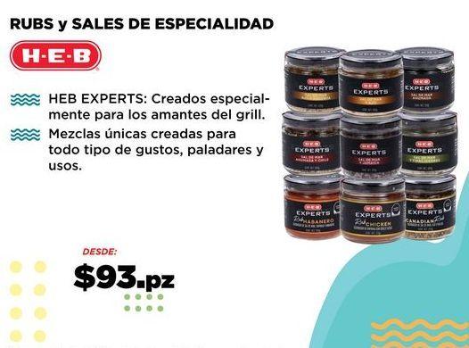 Oferta de RUBS y SALES DE ESPECIALIDAD por $93