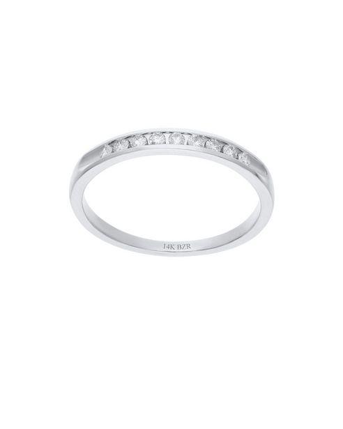 Oferta de Media Churumbela de Oro Blanco 14K con 16Pts de Diamante por $10964.25