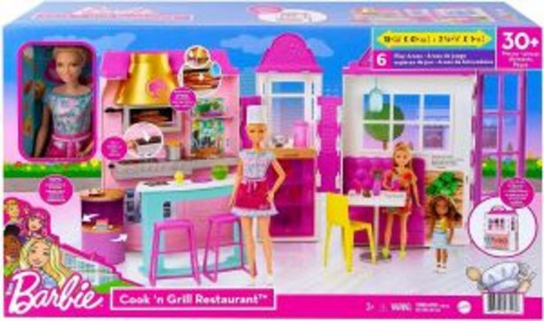 Oferta de Barbie Restaurante con Muñeca por $1599