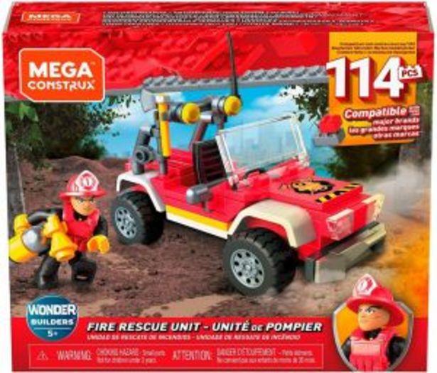 Oferta de Mega Construx Juguete de Construcción Wonder Builders Unidad Recate de Incendio por $119.4