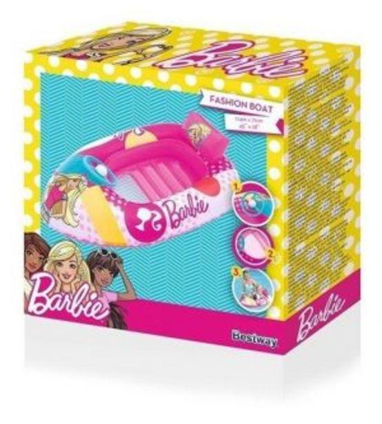 Oferta de Lancha Inflable Barbie Para Niña Color Rosa por $345