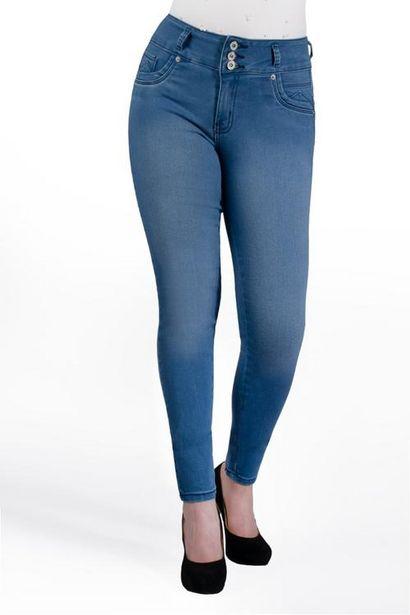 Oferta de Jeans liso  tiro medio por $150