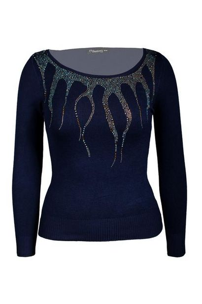 Oferta de Suéter con aplicación manga larga por $120