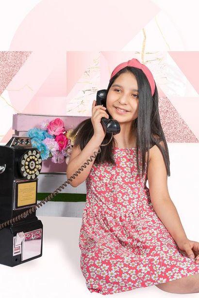 Oferta de Vestido estampado de tirantes para niña por $50