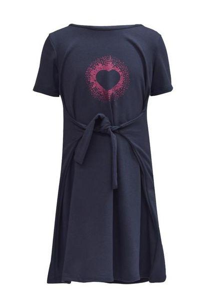Oferta de Vestido estampado manga corta para niña por $50