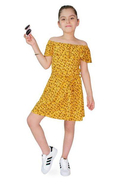 Oferta de Vestido estampado manga corta para niña por $100