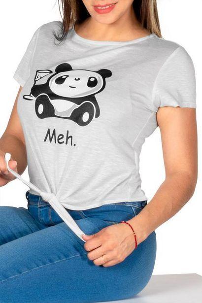 Oferta de Playera estampado de panda y amarre por $50