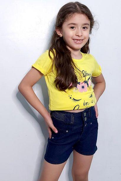 Oferta de Short de mezclilla para niña por $72