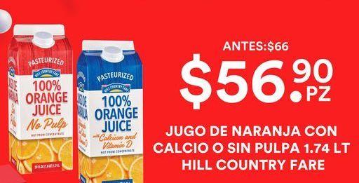 Oferta de Jugo de naranja con Calcio o Sin Pulpa 1.74 Lt  por $56.9