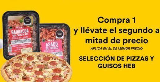 Oferta de Pizzas y Guisos Heb  por