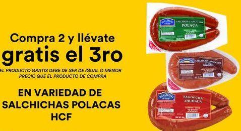 Oferta de Salchichas Polacas HCF  por