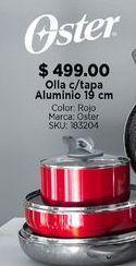 Oferta de Olla pequeña c/tapa Aluminio Oster 19 cm por $499