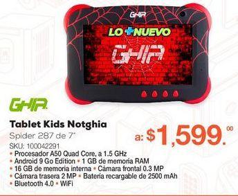 Oferta de Tablet Ghia Kids Notghia-287 por $1599