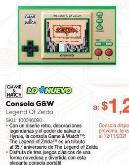 Oferta de Consola Nintendo Game and Watch The Legend of Zelda  por $1299