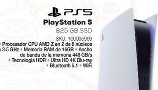 Oferta de Consola PlayStation 5 / 825 gb SSD / Blanco por $13999