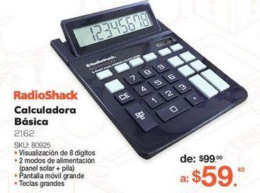 Oferta de CALCULADORA RADIOSHACK 2162 (NEGRO, 8 DIGITOS) por $59